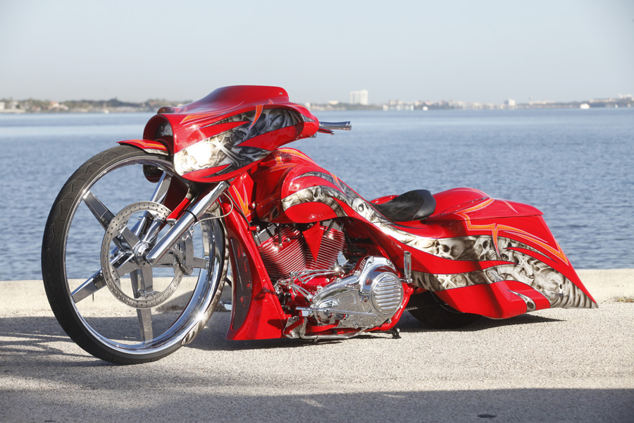 "Andrew's 32"" Red Street Glide"