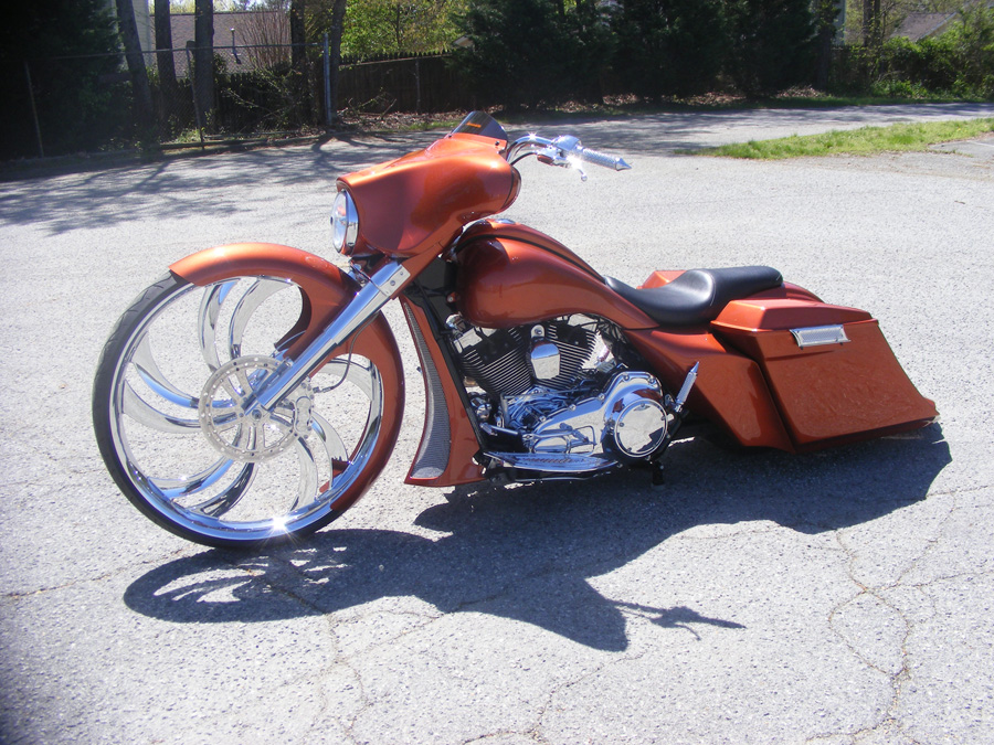Ga Burnt Orange 32 Quot Street Glide Custom Cycles Ltd