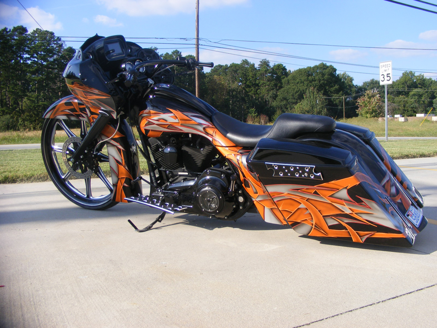 Derek S Black And Orange 30 Quot Road Glide Custom Cycles Ltd