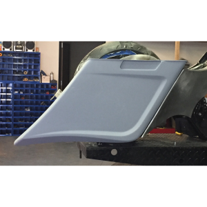 "Dual Radius ''Scalloped Bags"" w/ Direct Replacement ''OVER RAIL'' Rear Fender"