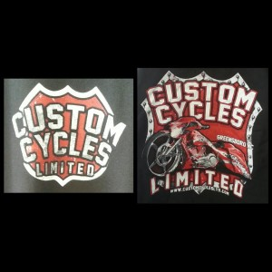 Custom Cycles Red Shirt